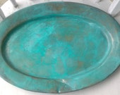faux copper verdigris plate