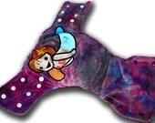 Mermaid - M/L Organic Bamboo Velour AI2 Cloth Diaper