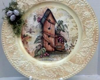 SALE Prim Birdhouse,Eggs, Grapes, Bumble Bee, Glitter, Oils