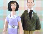 Dick Van Dyke Mary Tyler Moore Doll Set Miniature Fan Art