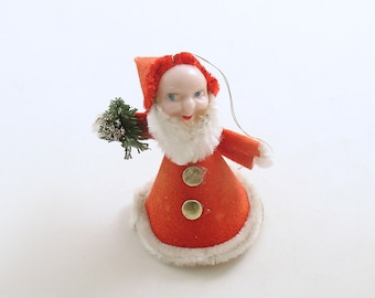 Vintage Christmas Ornament Santa Gnome Christmas Decoration