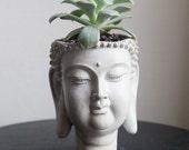 Buddha Head Planter, Home Garden Decor