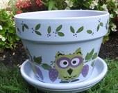 Owl Flower Pot