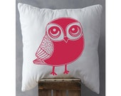 Owl pillow, owl decor, decorative throw pillow, throw pillow cover, accent pillow, novelty pillow