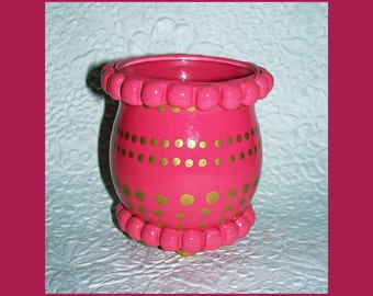 Rosi Pink Tealight Candle Holder