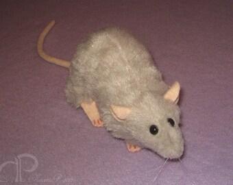 Light Grey Rat Plushie