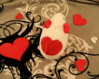 I -heart- Guinea Pigs Plushie - White with Red Heart