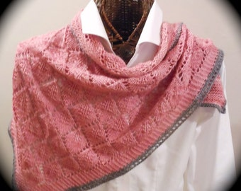 Pink and Gray Sophistication Shawlette
