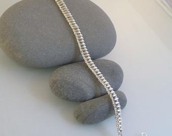 Cool Sterling Silver 'Trax' Bracelet  B0050