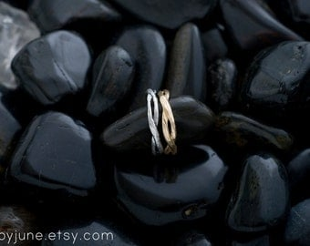 Twisty Silver Ring | Stacking Ring | Nature Inspired Ring