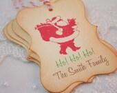Personalized Santa Tags Christmas Santa Tags Custom Family Name
