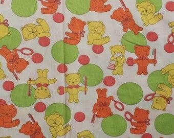 SALE! Seventies vintage childrens fabric