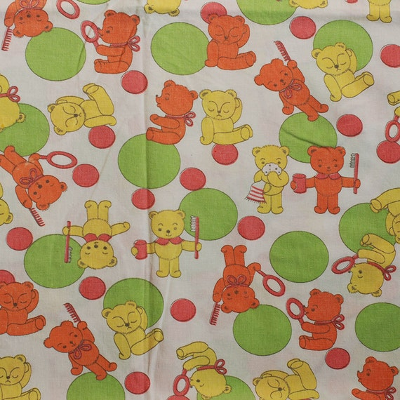 sale seventies vintage childrens fabric