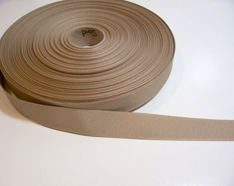 Beige Ribbon, Sand Grosgrain Ribbon 7/8 inch wide x 10 yards