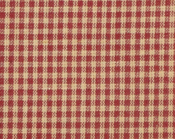 FLAWED Fabric | Homespun Fabric | Cotton Fabric |  Small Wine Check  Fabric | 41 x 44