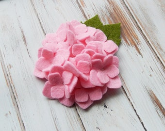 Large Wool Felt Flower - Hydrangea - Cotton Candy - Set of 2 - Large Felt Flower