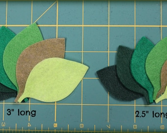 12 Leaves your choice of size and colors