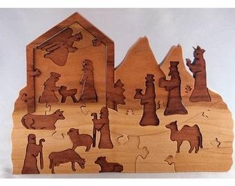 Nativity Advent Calendar, wooden puzzle
