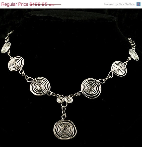 Silver Spirals Necklace