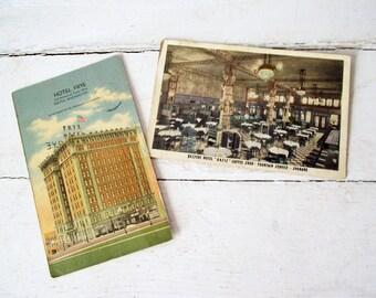 Vintage Postcards -Seattle, Spokane Washington- Hotel Frye and Dessert Hotel