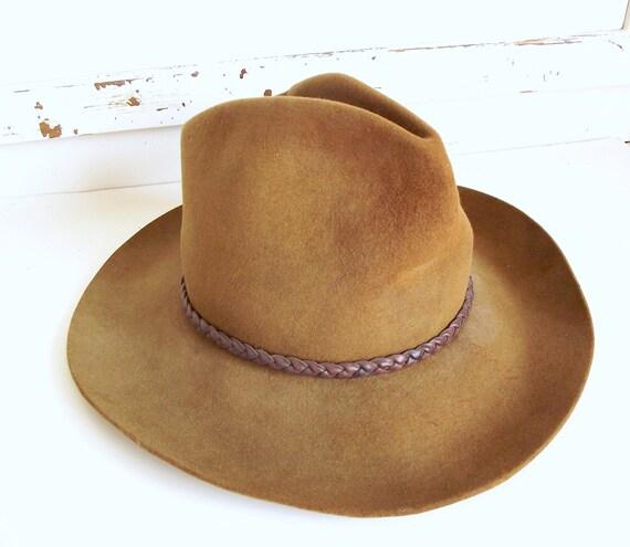 Vintage Hat - Texas Hatters Custom Made Felt Indiana Jones