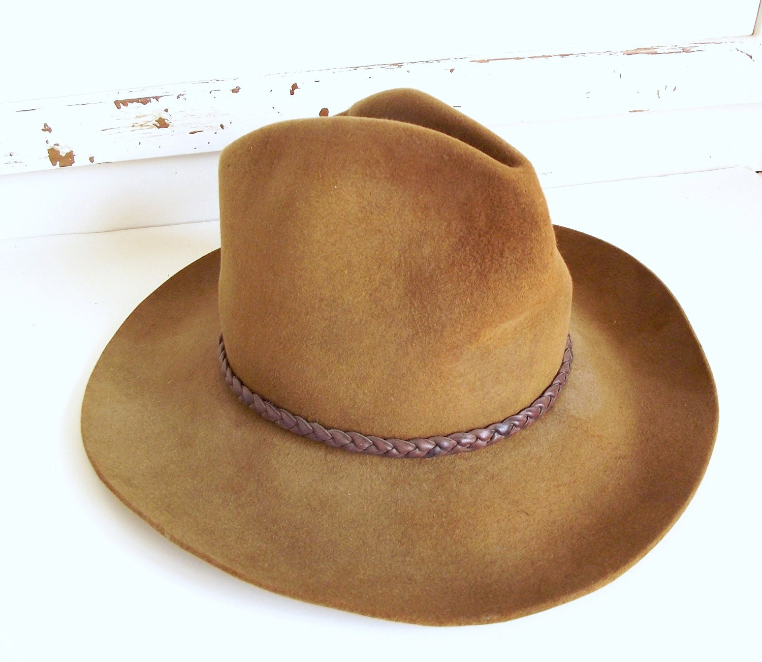 289f2607a66df Resistol Tarrant Custom Felt Cowboy Hats  Vintage Hat Texas Hatters Custom  Made Felt Indiana Jones