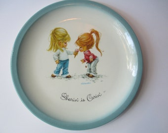 Gigi Plate Sharin' is Carin' Decorative - Retro Vintage Friend Gift