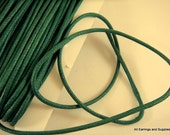 SALE - 30ft Dark Green Cording Waxed Cotton 2mm - 30 ft. - STR9020CD-DG30