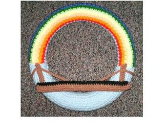 AerieDesigns RAINBOW BRIDGE Wreath PDF Crochet Pattern Memorial for Dog, Cat or Pet