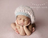 Slouchy Beret - pink, silver