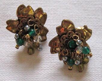 60s Cluster Post Earrings . 60s Stud Earrings .  Cluster Stud Earrings . retro stud earrings