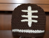 Football Beanie Hat - Sizes 0-3 through 4-10 years