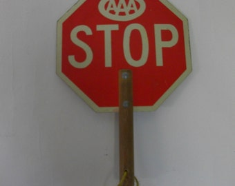 Official Vintage Crossing Guard Stop Sign 2 Sided