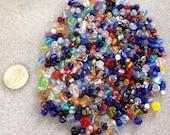 Various colors mix bag of glass beads