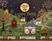 """Sleepy Town 8.5""""x11"""" PRINT by Leslie Berg"""