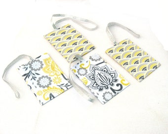 Wedding Favors, 100 Destination Wedding Luggage Tags in your fabric choice