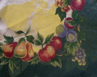 Vtg KEMP BEATLEY Napkins Set 10 Harvest Fruit NW0T