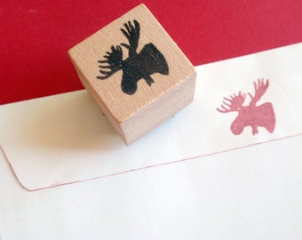 Little Moose Rubber Stamp  - Handmade rubber stamps by Blossom Stamps