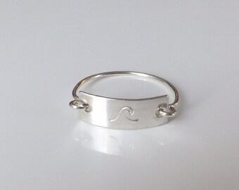 Ocean Wave Bar Ring