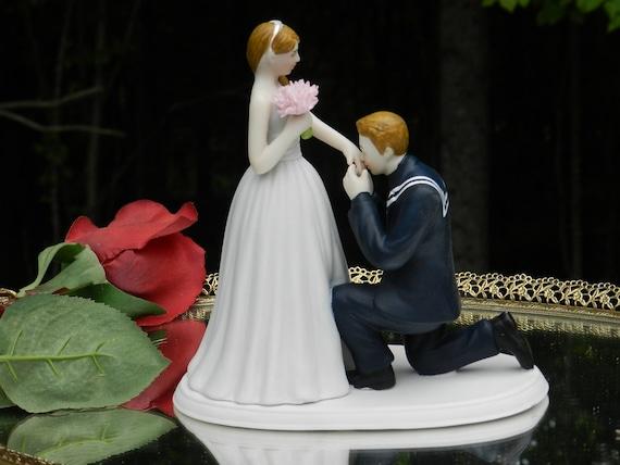 Usn Navy Sailor Kiss Military Prince Wedding Cake Topper