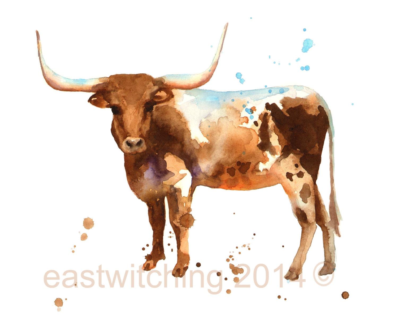 Steer Print Boys Wall Art Cow Country Western Art Cowboy