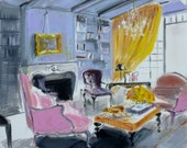 Interior with Pink Chairs Fine Art Print