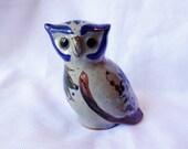 Hoot! Hoot! Vintage Folk Art Pottery Owl Statue