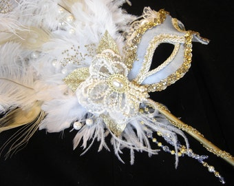 Blue Marie Antoinette Mask III
