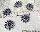 5 Rhinestone buttons, pearl button, crystal button, flower bouquet embellishment, garter decoration, wedding ring pillow center