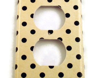 Outlet Light Switch Cover Wall Decor Light Switchplates Switch Plate in Polka   (171O)