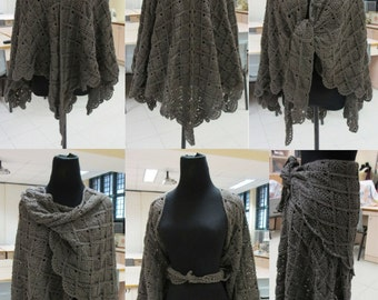 Lacy Wrap-Around Shawl Crochet Pattern