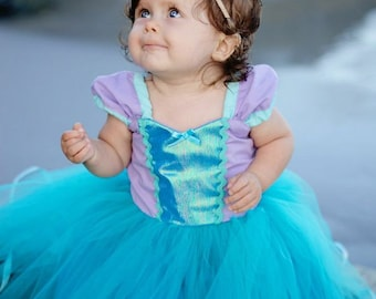 Mermaid dress Ariel dress princess Tutu dress for birthday party dress  or portrait