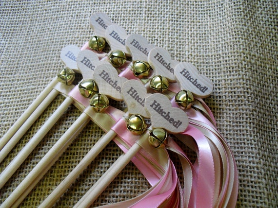 Wedding wand favors hitched country heart wedding wands for for Wedding wands