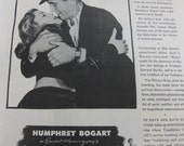 Vintage Movie Life Magazine Advertisment  Bogart and Bacall in To Have and Have Not